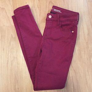 Mid-Rise Skinny Rockstar Jeans | Size 0 Regular